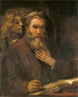 Matthaeus6_Rembrandt Harmensz van Rijn: Matthäus, 1661, im Louvre in Paris